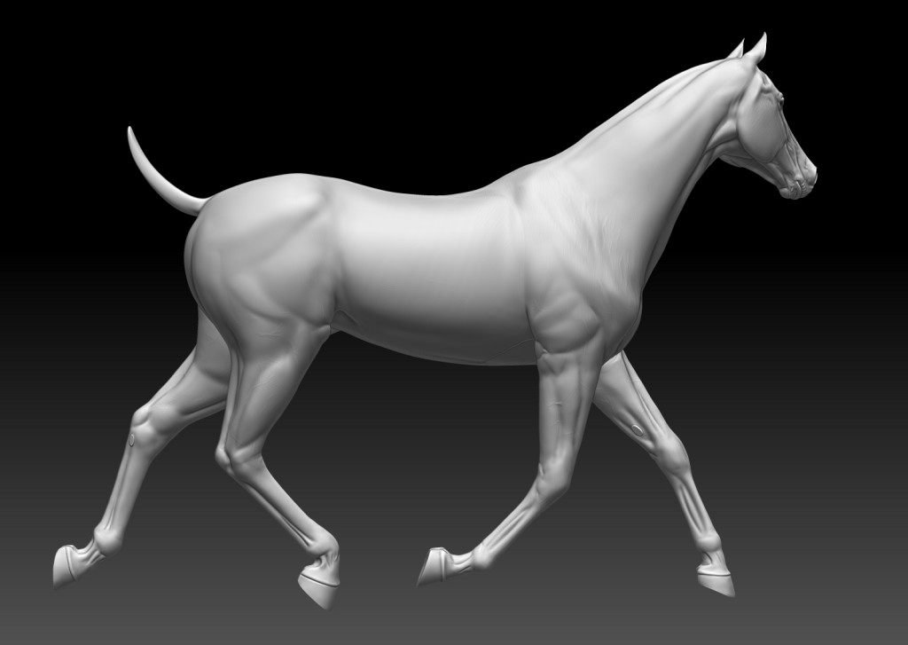 Horse in Zbrush